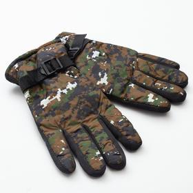 """Перчатки зимние мужские MINAKU """"Хаки"""", цв.зеленый, р-р 8 (25 см)"""