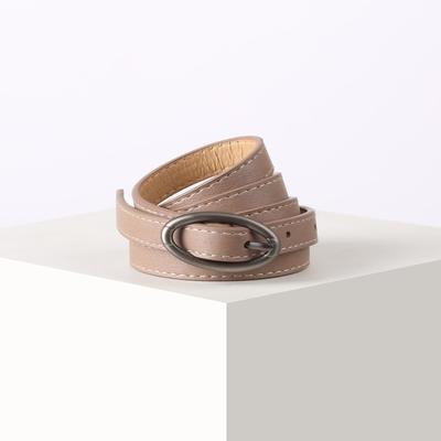 Women's belt 02-01-01-01 Dakota, 1.4*0.2*110cm, smooth, metal buckle, pink