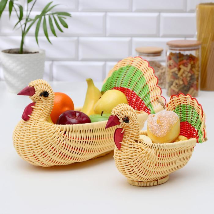 Корзинки для фруктов и хлеба «Индюшата», 2 шт - фото 133625