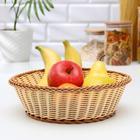 Корзинка для фруктов и хлеба Доляна «Молочный шоколад», d=27 см - фото 668770