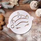 "Stencil for baking ""New year's unicorn"", 22.4 × 19 cm"