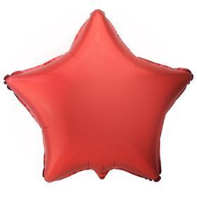 """Шар фольгированный 18"""" «Звезда», цвет красный"""