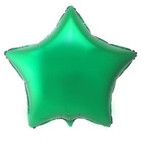 """Шар фольгированный 18"""" «Звезда», цвет зелёный"""