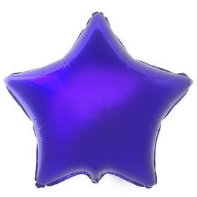 """Шар фольгированный 18"""" «Звезда», цвет фиолетовый"""