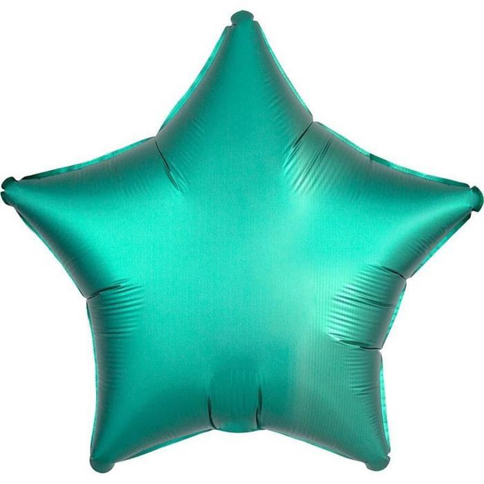 """Шар фольгированный 18"""" «Звезда», сатин люкс, цвет бирюза - фото 465922"""