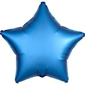 """Шар фольгированный 18"""" «Звезда», сатин люкс, цвет голубой"""