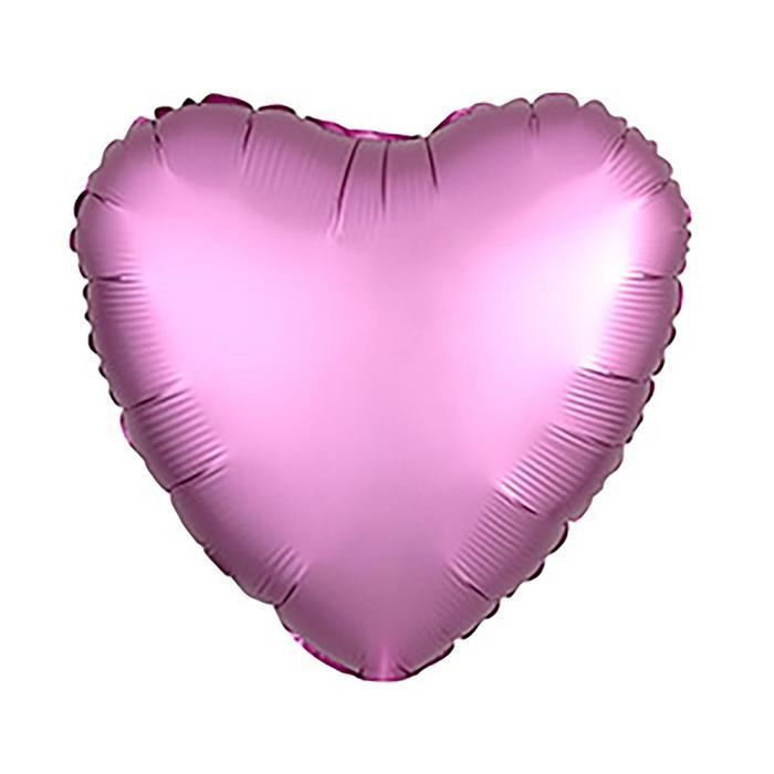 """Шар фольгированный 18"""" «Сердце», цвет розовый - фото 7639786"""