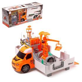 Парковка-трансформер «Город», с 4 машинками из металла