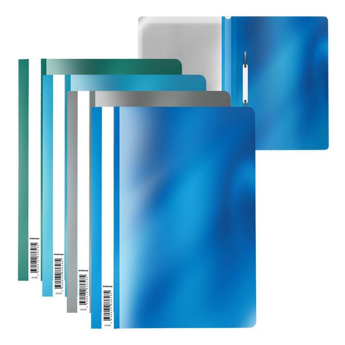 Папка-скоросшиватель А4 ErichKrause Glossy Ice Metallic, микс 53288