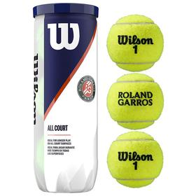 Мяч теннисный WILSON Roland Garros All Court, одобрен ITF, фетр, резина, 3 шт. Ош
