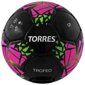 "Football ball ""TORRES Trofeo"" art.F32015, p. 5, 32 panels. PU, manual stitching, black"
