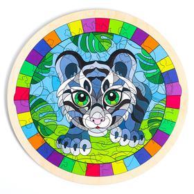Пазл в рамке «Тигрёнок»