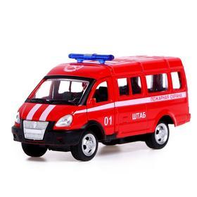 Автобус металлический «Спецслужбы», 1:50, инерция, МИКС
