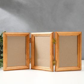 Triple 10x15 cm photo frame No. 1 walnut