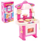 Игровой модуль «Кухня» с набором посуды, МИКС
