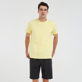 Футболка мужская MINAKU: Basic line цвет лимонный, р-р 48