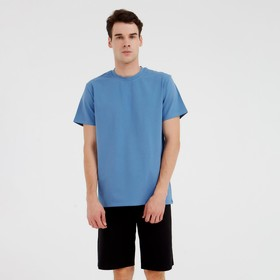 Футболка мужская MINAKU: Basic line цвет синий, р-р 48