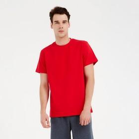Футболка мужская MINAKU: Basic line цвет красный, р-р 48