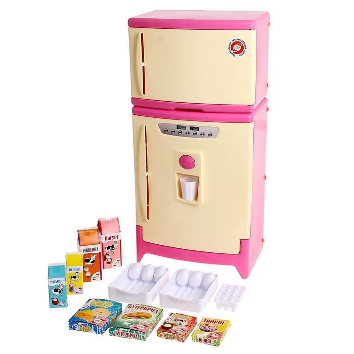 Холодильник двухкамерный с набором продуктов, цвета МИКС - фото 1563303