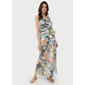 Атласное платье-сарафан для беременных и кормления «Флора», размер 44