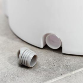 Набор для уборки: ведро с отсеками для полоскания и отжима 10 л, швабра плоская, запасная насадка с двумя карманами, водосгон, цвет МИКС - фото 4644276