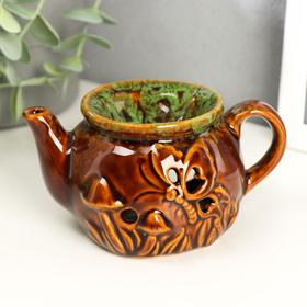 "Aroma lamp ceramic ""Teapot with butterflies"" MIX 6,5x12,7x8 cm"