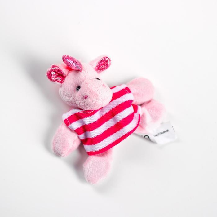Мягкая игрушка «Единорог в футболке», с магнитом, цвета МИКС