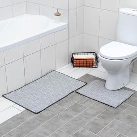 Набор ковриков для ванной и туалета Доляна «Адеолла», 2 шт: 50×78 см, 40×50 см