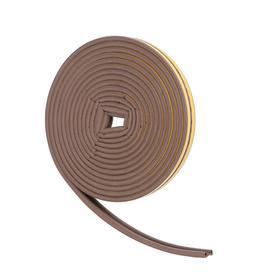 Уплотнитель для окон, профиль P, на клейкой основе, коричневый, в упаковке 10 м