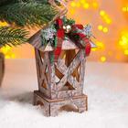 """Christmas decor with lighting """"Fairy tale"""" 8,5x8,5x16 cm"""