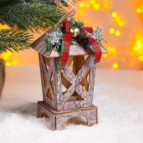 Новогодний декор с подсветкой «Сказка» 8,5х8,5х16 см