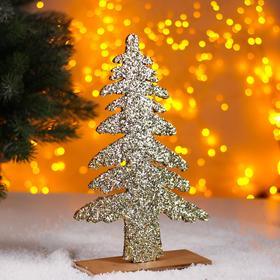 Новогодний декор «Яркая ёлочка» золотая 0,5х17х26 см