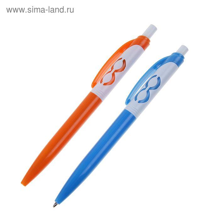 Ручка шариковая автоматическая К8 МИКС стержень синий