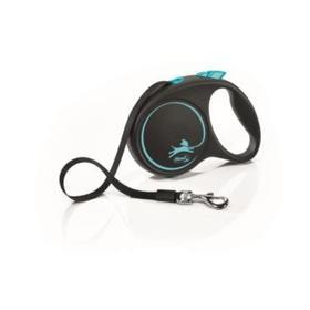 Рулетка Flexi Black Design M (до 25 кг) 5 м лента, черный/синий