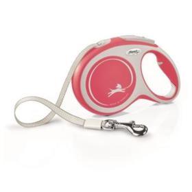 Рулетка Flexi NEW LINE Comfort L (до 50 кг) лента, 8 м серый/красный