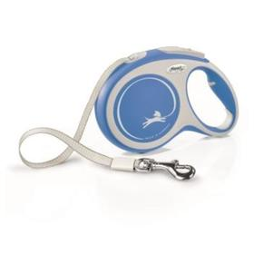 Рулетка Flexi NEW LINE Comfort L (до 50 кг) лента, 8 м серый/синий