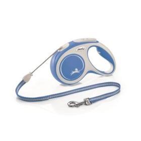 Рулетка Flexi NEW LINE Comfort M (до 12 кг) трос, 5 м серый/синий