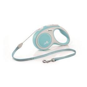 Рулетка Flexi NEW LINE Comfort S (до 12 кг) трос, 5 м серый/голубой