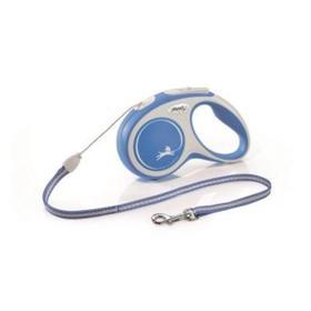 Рулетка Flexi NEW LINE Comfort S (до 12 кг) трос, 5 м серый/синий