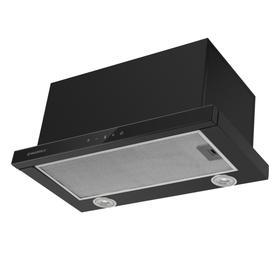 Вытяжка Maunfeld Ts Touch 50 Glass Black, встраиваемая, 1000 м3/ч, 3 скорости, 50 см, чёрная