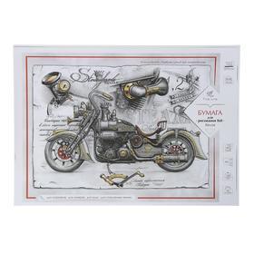 Бумага для рисования А3, 20 листов Fine Line, индивидуальная упаковка, блок офсет 160 г/м2