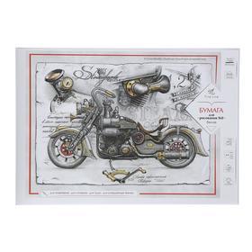Бумага для рисования А4, 40 листов Fine Line, индивидуальная упаковка, блок офсет 160 г/м2