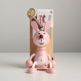 Игрушка Вознесенск — Зайка розовый в упаковке