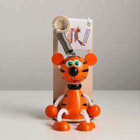 Игрушка Вознесенск - Тигр рыжий в упаковке