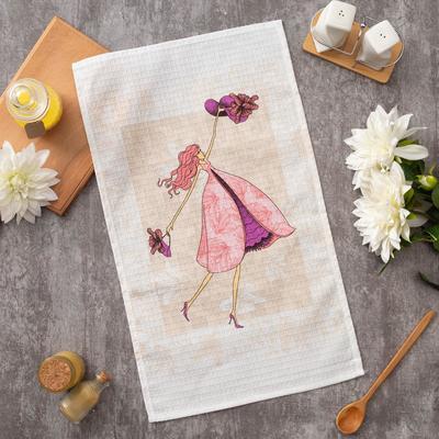 """Towel Ethel 34*58 cm """"Violet"""", 100% cotton, waffle, 200 gr/m2"""