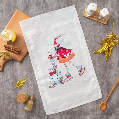 """Ethel towel 34*58 cm """"New year's gift"""", 100% cotton, waffle, 200 gr/m2"""