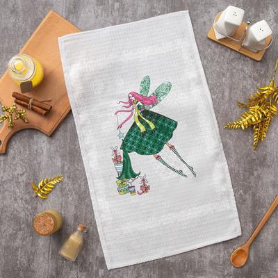 "Ethel towel 34*58 cm ""Christmas card"", 100% cotton, waffle, 200 gr/m2"