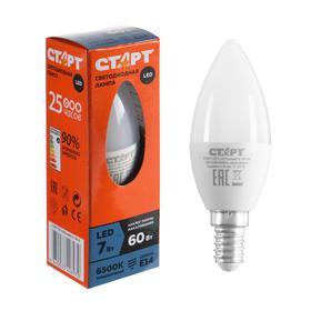 """Лампа светодиодная """"Старт"""" Эко, Свеча, E14, 7 Вт, 6500 K, 230 В, холодный белый"""