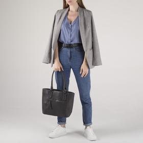 Сумка женская, отдел на молнии, наружный карман, цвет серый - фото 51408