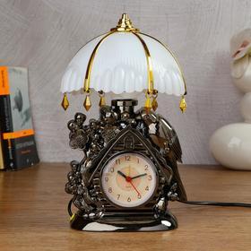"Clock-lamp ""Domik"" with alarm clock,1 AA, discrete stroke, 12.5x5x25 cm"